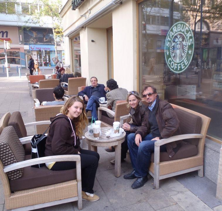 Kanaďanka Nicole a host rodičia vo Viedni
