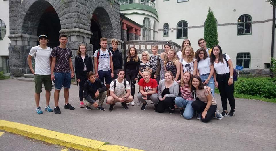 Účastníci kempu ve městě Imatra