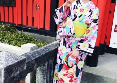 kimono v kyotu