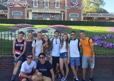 Návšteva Disneylandu spolu s výmennými študentami s Rotary