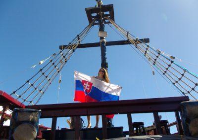piratska loď, vylet Ruta Maya