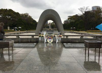 Pomník atomového útoku na hiroshimu