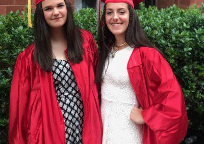 S kamarádkou Chiarou, Itálie při naší americké graduation