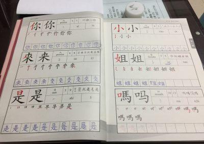 učím sa písať po čínsky
