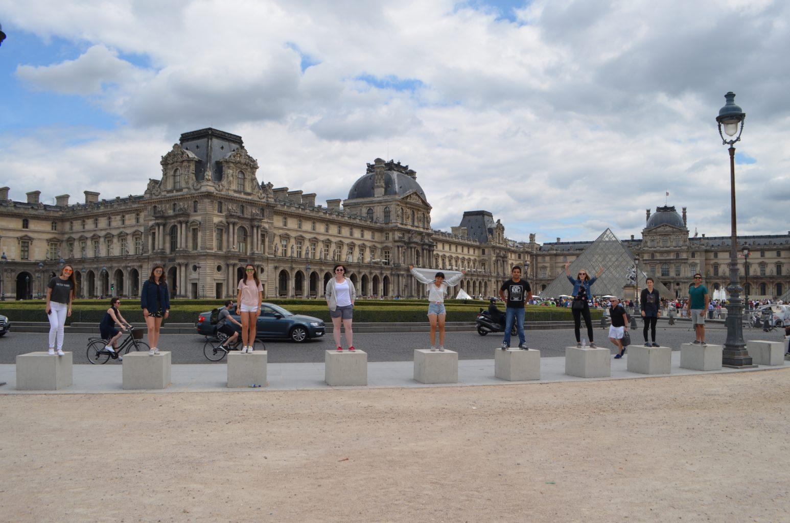 Letní tábor Francie Křempková Louvre
