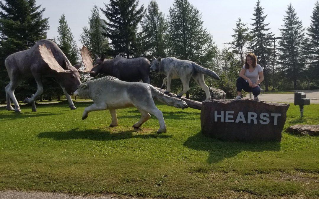 První den v kanadském Hearst