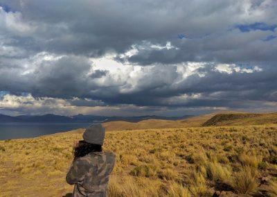 Ana z Brazílie u jezera Titicaca