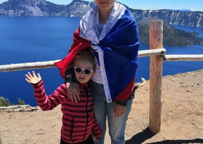 Já a moje sestra Ema u Crater Lake