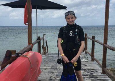 Mé první potápění