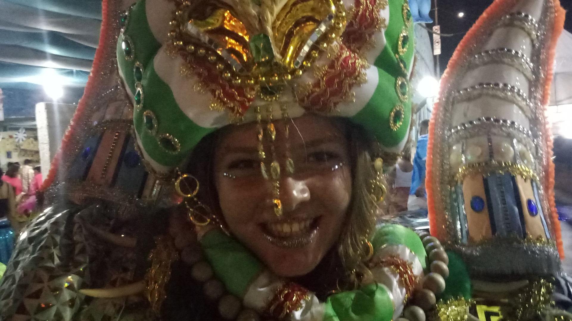 Nikdy bych neřekla, že budu součástí brazilského karnevalu