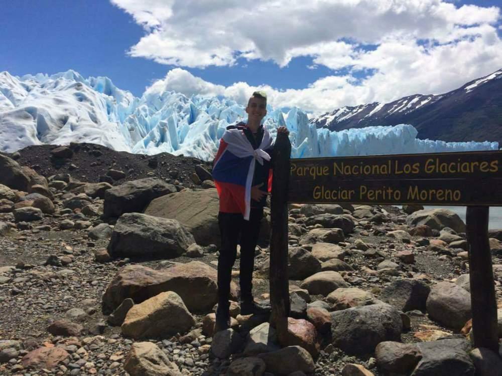 Perito Moreno z diaľky..