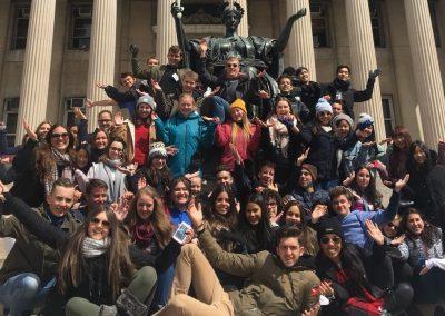 S ostatními studenty u Columbia University