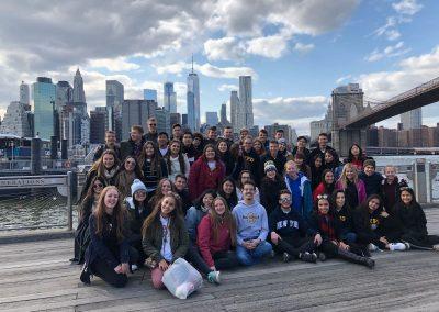 S ostatními studenty v New Yorku