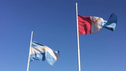 Vlajka Argentíny a vlajka Córdoby