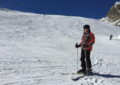 Riccardo poprvé spatřil sníh