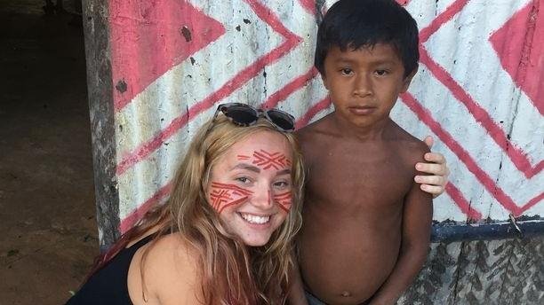 výlet v Amazonke, návšteva indiánskeho kmeňa
