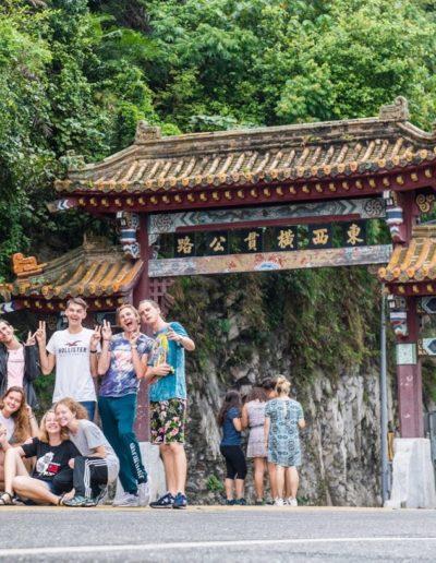 S kamarátmi počas veľkého výletu okolo celého Taiwanu