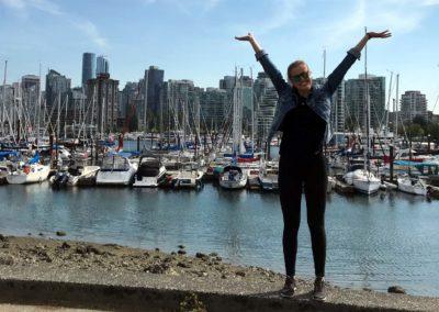 Já po dvou týdnech ve Vancouveru, který jsem si okamžitě zamilovala