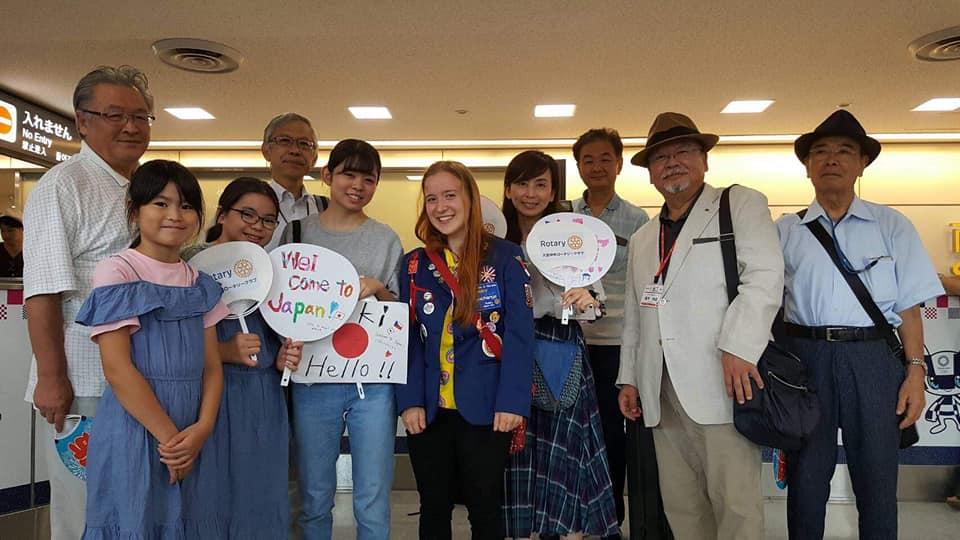 Japonsko přivítání na letišti