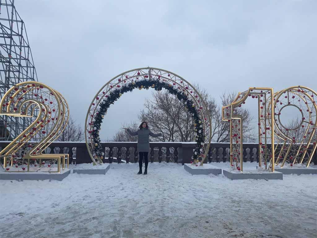 Vianočná výzdoba v Moskve