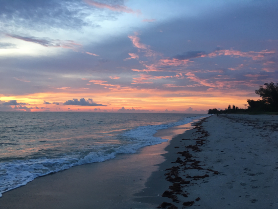 Západ slnka na Manasota Key Beach