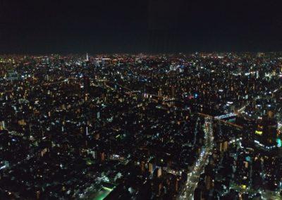 Noční pohled ze Sky Tree
