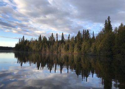 pohled z jezera