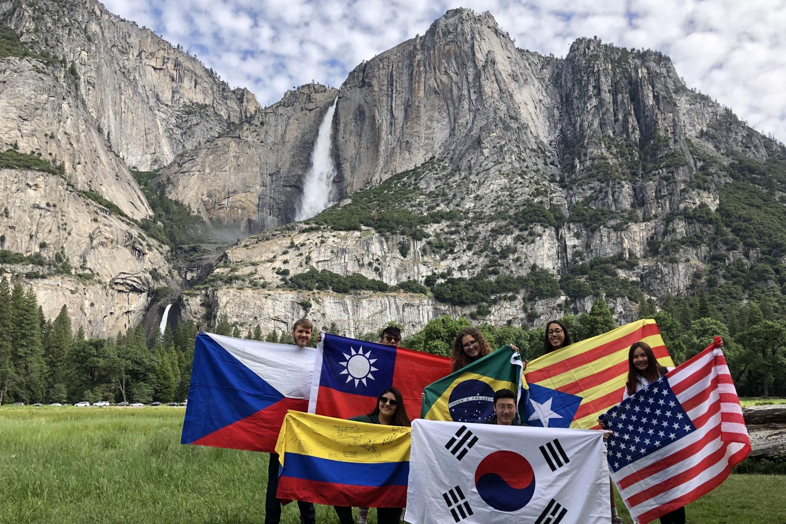Výlet s výměnnými studenty do Yosemitského národního parku