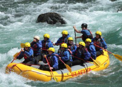 White water rafting v Montaně