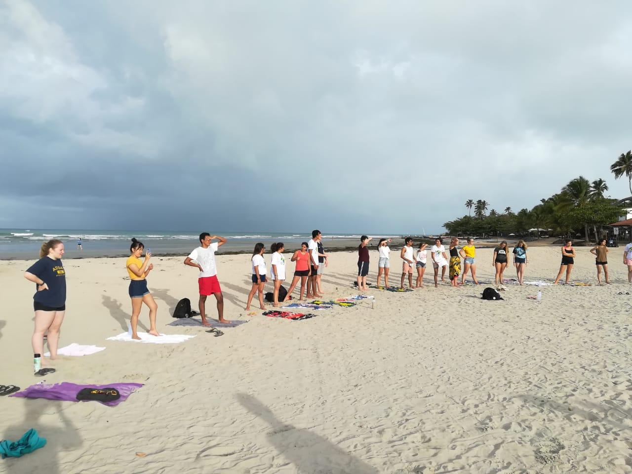 Cvičení na pláži